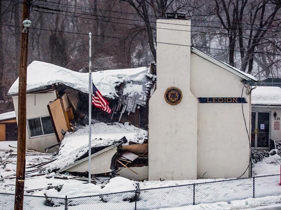 Collapsed Dobbs Ferry Legion Building
