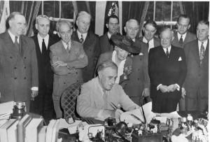 President Roosevelt Signs GI Bill