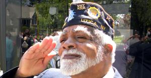 Ed Jackson salutes fallen