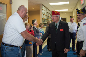 6th District Legion Family members welcome National Commander Dale Barnett.