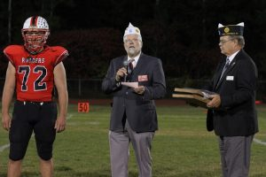 Legion honors football players.