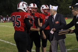 Legion honors high school football players