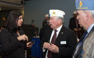 Assemblywoman Nichole Malliotakis chats with Legionnairs