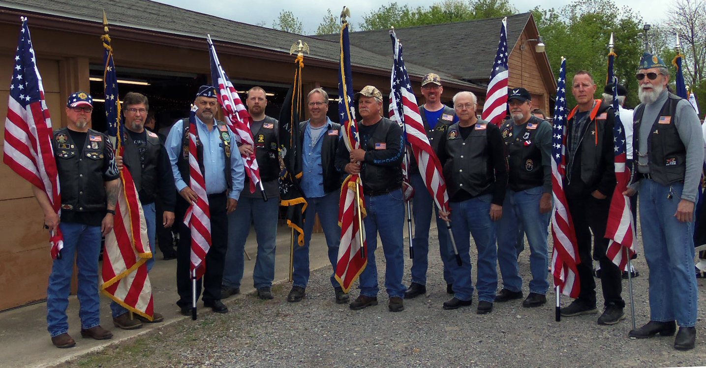 Legion Riders at flag ceremony