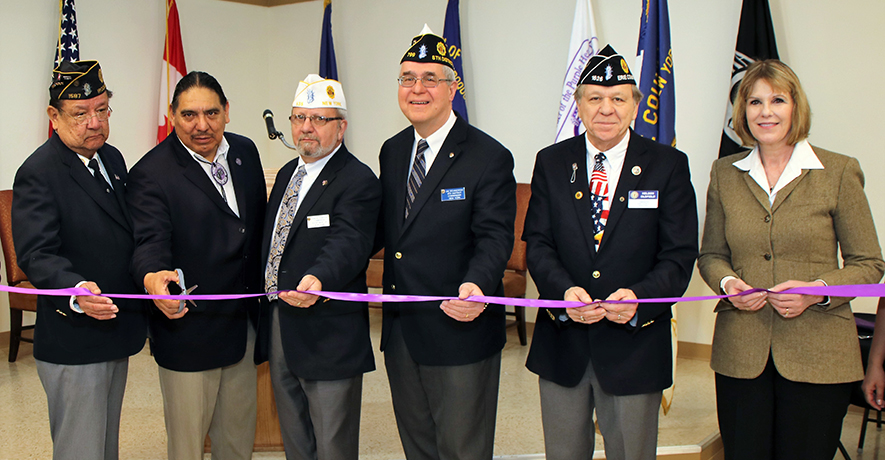 Iroquois Post Ribbon-Cutting