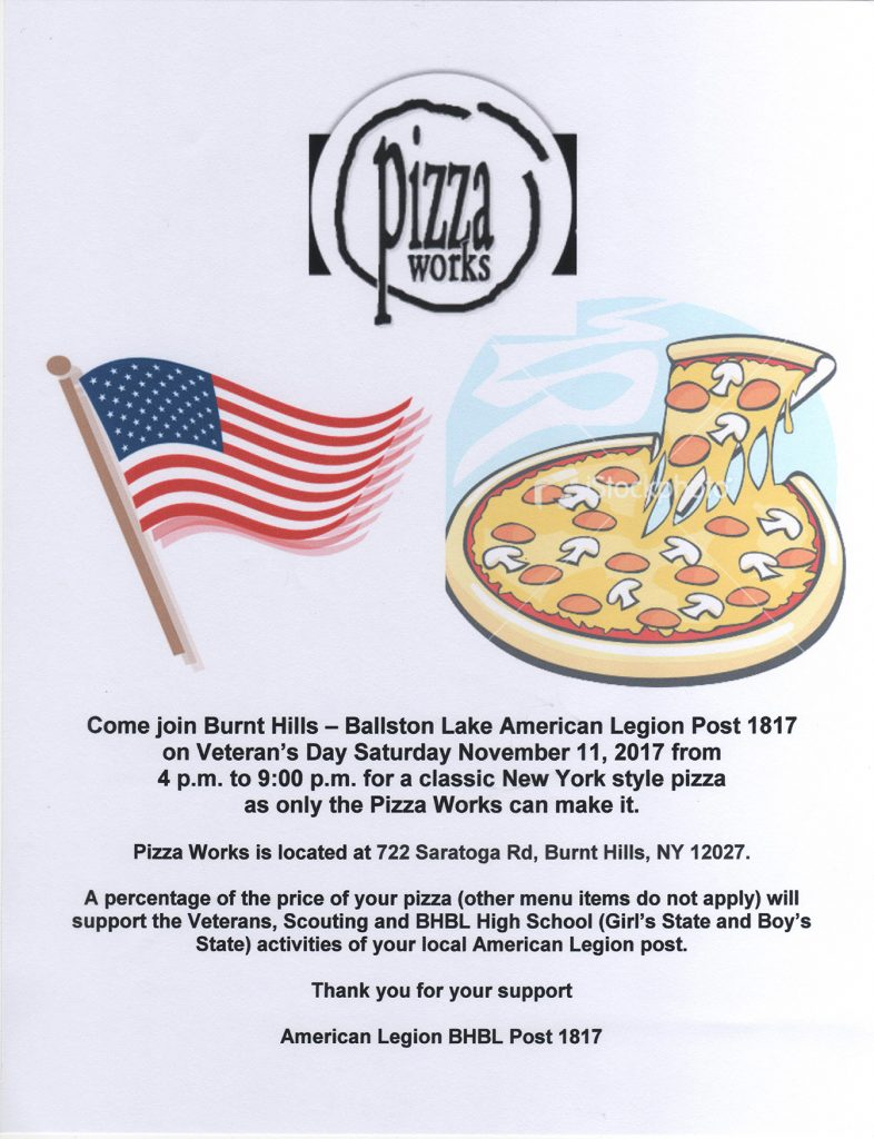Pizza fundraiser poster