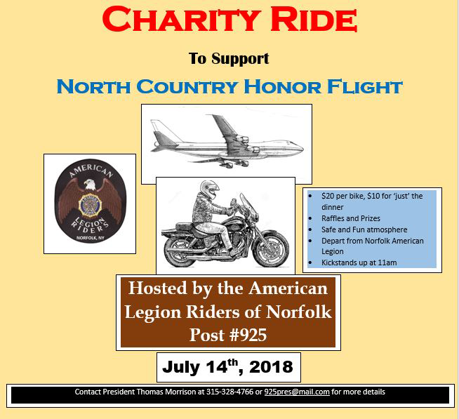 Charity Ride promo