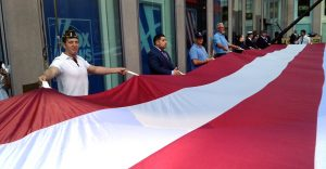 Flag Day tribute in New York City