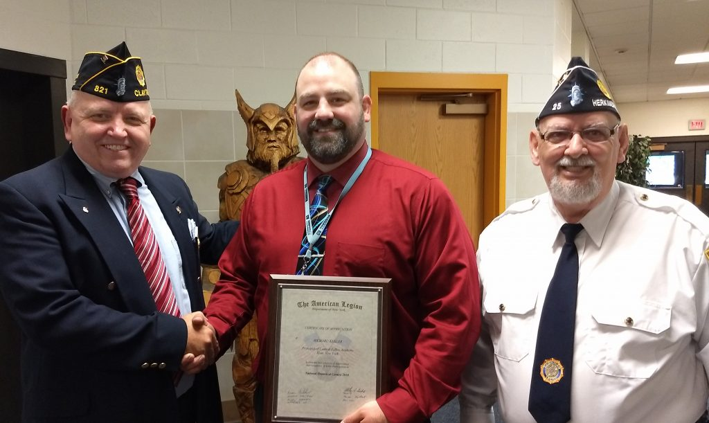 Legion honors principal