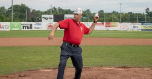 Gary Schacher Throws Out First Pitch