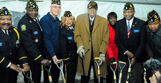 Groundbreaking for African American veterans memorial.