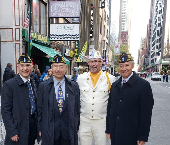 Chinese Post 1291 members and Gary Schacher