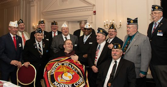Wounded marine is guest of honor at Mid-Winter Conference
