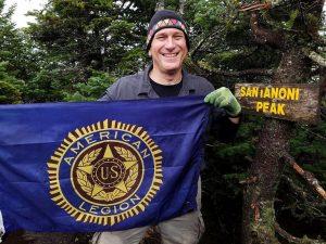 Keith Koster at Santanoni Peak