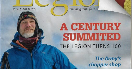 Legion Magazine Cover showing Keith Koster