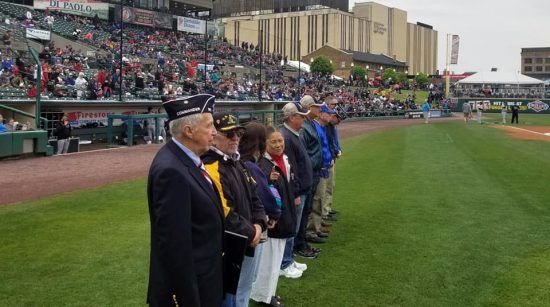 American Legion Day at Rochester Red Wings game.