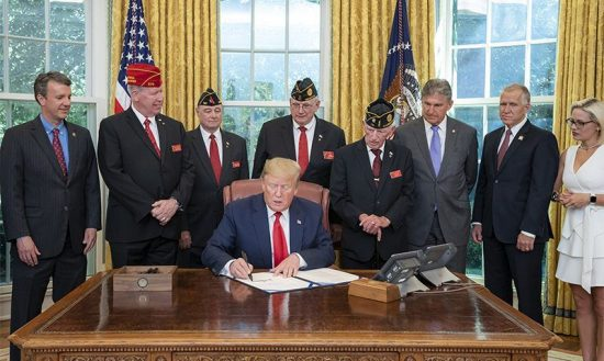 President Trumps signs LEGION Act