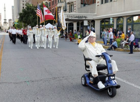 Commander Mike McDermott leads NY contingent in parade