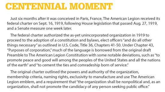 Centennial Moment