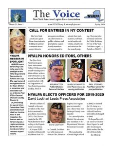 Cover of NYALPA Voice, Spring 2020 issue