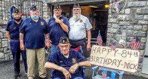 Celebrating vet's 84th birthday