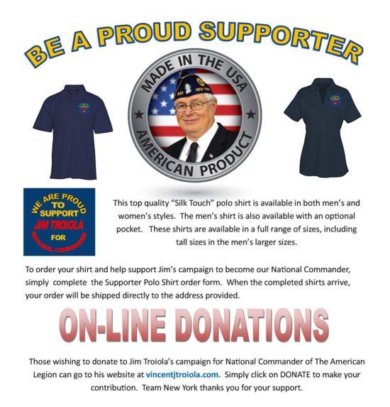 polo shirt fundraiser promo