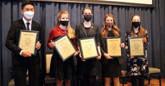 2021 Oratorical finalists
